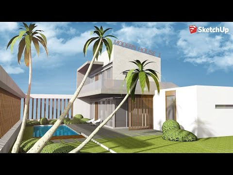Sketchup - Speed Build - Modern House 1