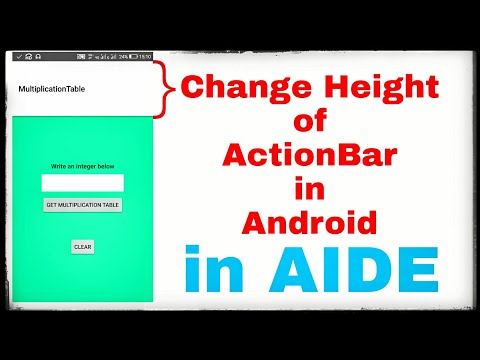 Change height of ActionBar in Android project