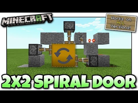 Minecraft - 2x2 SPIRAL DOOR [ 1 Wide ] [ Redstone Tutorial ] Works on ALL Versions !