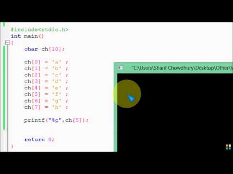 Bangla C programming tutorial  52  String Basic  Difference Between char array & string