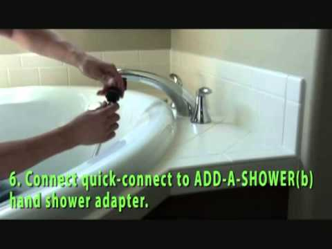 How to ADD-A-SHOWER to your roman tub faucet