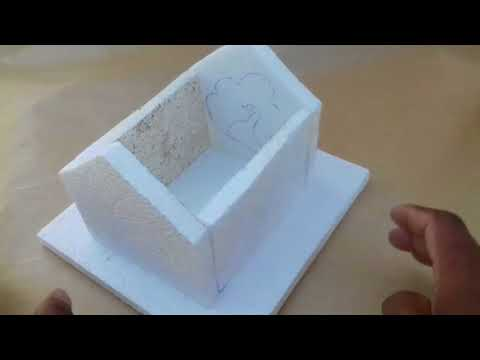 How to make small 3d house with thermocol