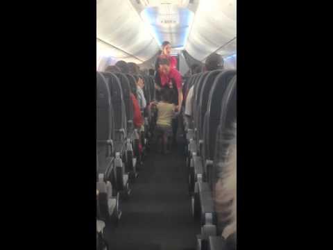2 Years old air hostess on Qantas