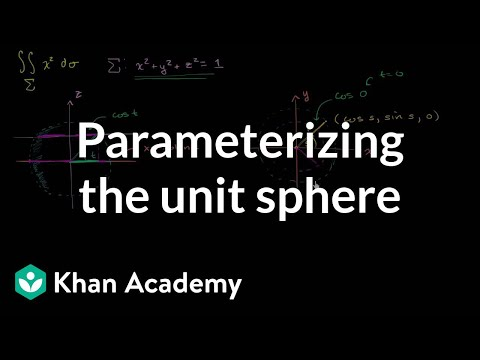 Surface integral example part 1: Parameterizing the unit sphere | Khan Academy