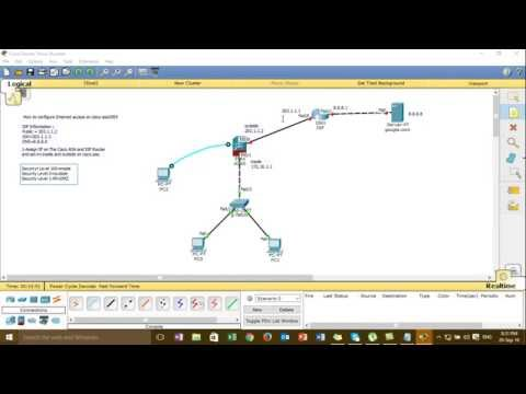 Step by Step Configure Internet Access on Cisco ASA5505 (Cisco Packet Tracer)#01