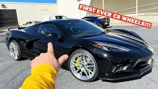 FIRST EVER C8 CORVETTE ON CUSTOM 21 INCH WHEELS!!! *LOOKS PERFECT!*