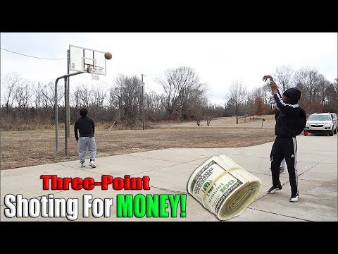 INSANE Basketball Three-Point Shootout for $1,000! (Dollar Shots)