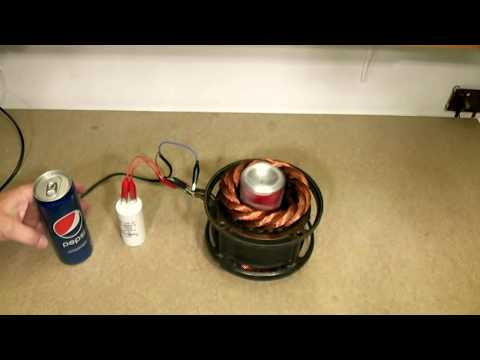 Cans Pepsi & Coca Cola in magnetic induction