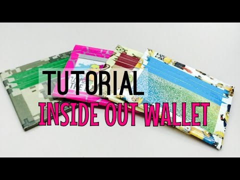 (FOR BEGINNERS) Duct Tape Inside Out Wallet Tutorial