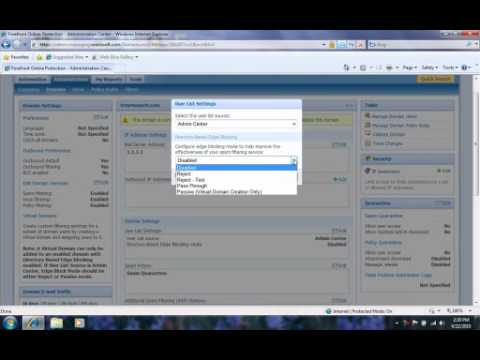 Forefront Online Protection for Exchange: Administration Center 102