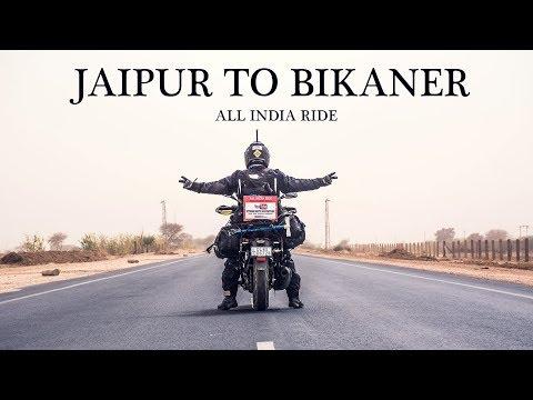JAIPUR TO BIKANER | All India ride | Hawa Mahal | Jal Mahal | Rajasthan | Day 2 |