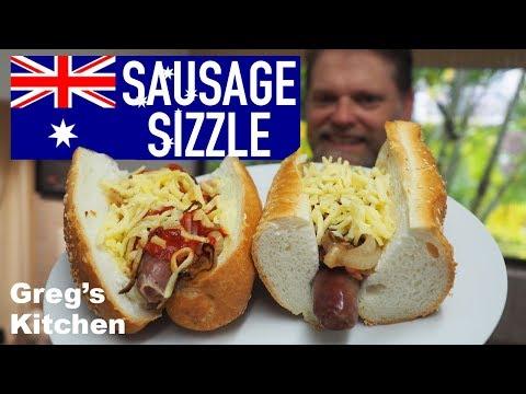 Australia Day Sausage Sizzle - Greg's Aussie As Hotdog Snag Recipe