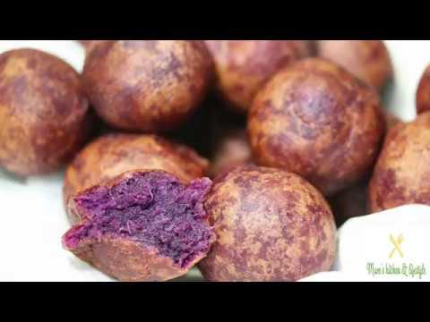 Thai Purple Sweet  Potato Balls (Deep Fried)