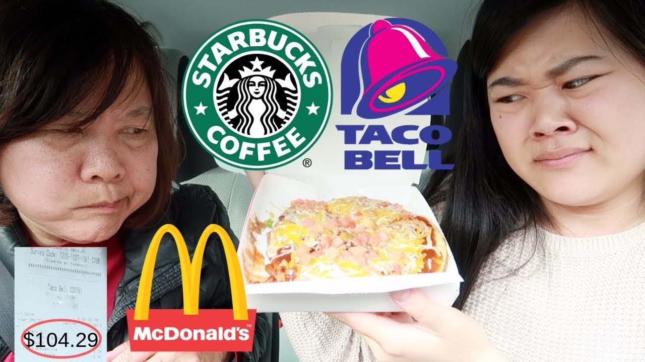 Letting The Person In FRONT Of Us DECIDE What We Eat For 24 HOURS! ft. Mom