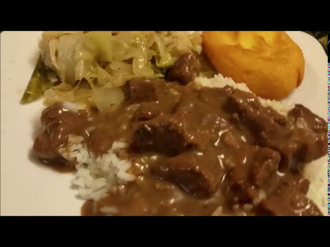 Beef Tips and Gravy with Rice