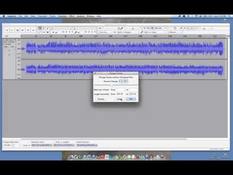 Audacity advanced tools split-track change tempo cut and duplicate