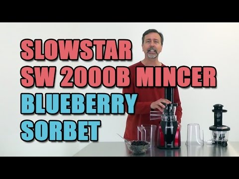 Slowstar SW 2000B Mincer Blueberry Sorbet
