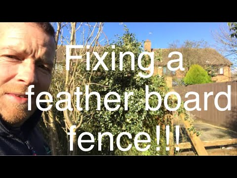 FIXING A FEATHER BOARD FENCE!