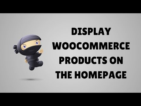 Display WooCommerce products on the homepage in WordPress