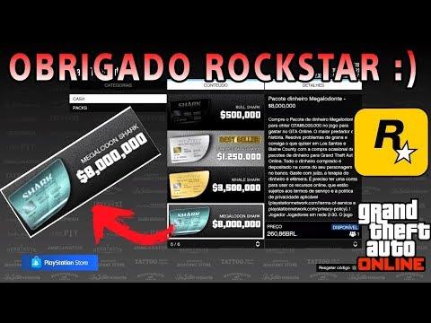 ROCKSTAR ME DEU 1.150.000 $ NO GTA 5 ONLINE, GANHE VOCÊ TAMBEM.