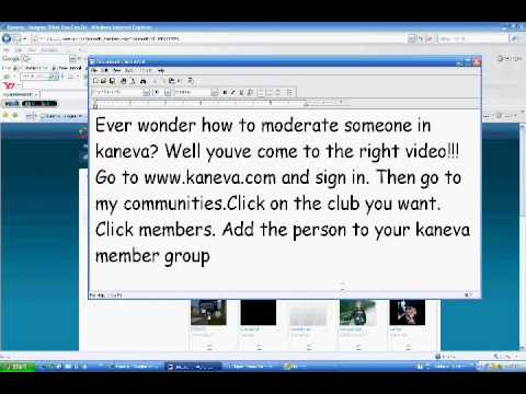 How to make someone moderator of your club in kaneva.