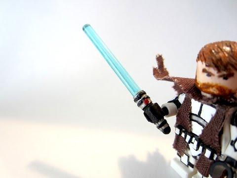 How To: Make A Custom LEGO Star Wars - Jedi Lightsaber Handle - Tutorial