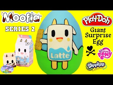 Tokidoki Moofia Series 2 Giant Play Doh Surprise Egg Latte MLP with Toys Blind Bags Stationary SETC
