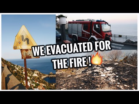 WE HAD TO EVACUATE FOR THE FIRE | Italy Travel Vlog #5