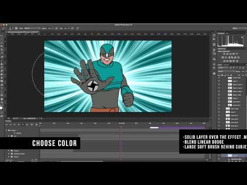 (Photoshop 2D) Animated Star Burst Background - Adobe After Effects (Tutorial)