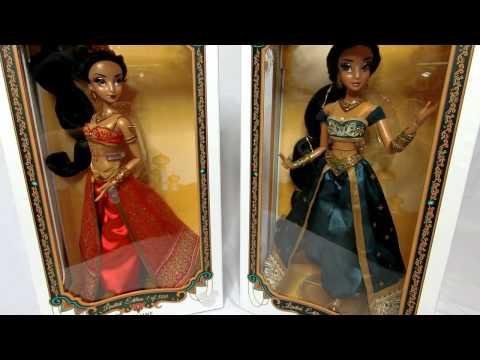 D23 Slave Jasmine doll and Regular Disney store Limited Edition17 inch Jasmine Doll