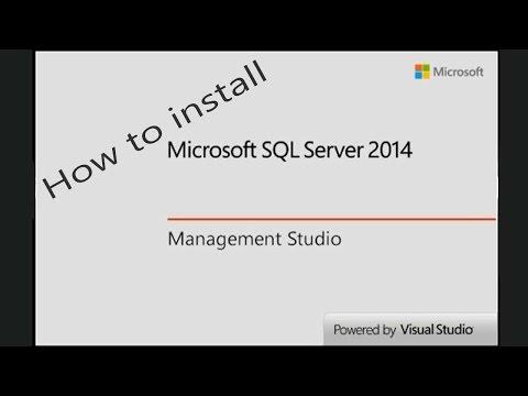 How to Install SQL Server 2014 Express and SQL Server Management Studio 2014 Express