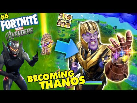 FORTNITE AVENGERS! Get Thanos Infinity Gauntlet Everytime? Marvel Battle Royale (FGTEEV #6)