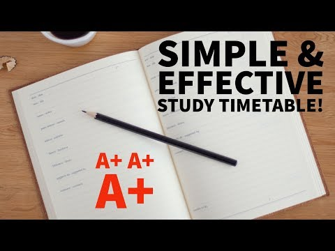 Simple Study Timetable! [How To]