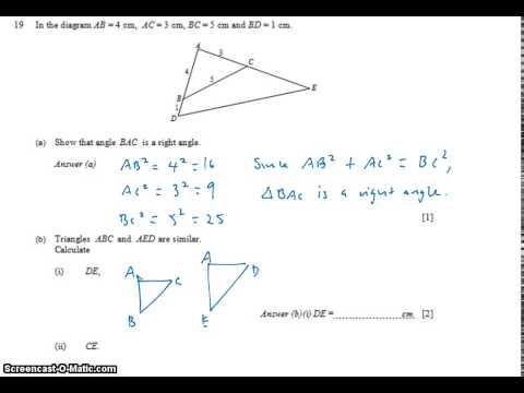 GCE NA Level 2009 P1 Q19