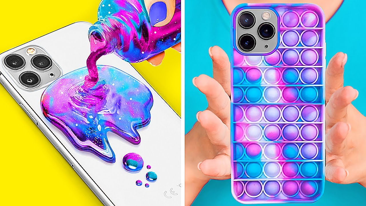 COOL DIY PHONE CRAFTS || Fun DIY Custom Ways And Tricks For Your Phone By 123 GO! GOLD