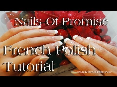 French Polish Live Tutorial. Nails Of Promise.