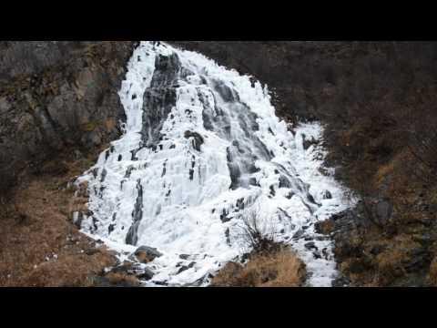 Horsetail Falls near Valdez, Alaska Almost Frozen October 29, 2016