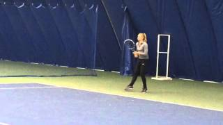 Fanni Stollar Warming Up - Forehands