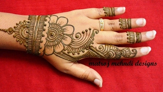 simple easy mehndi henna designs for hands-mehndi designs for beginners