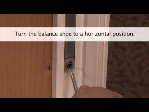 How to Replace the Tilt Balance in a Vinyl tilt-hung Window