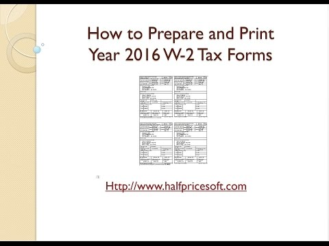 How to Print W2 Form for Year 2016