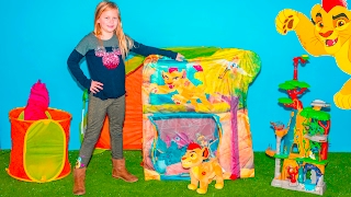 LION GUARD Disney Surprise tent with Paw patrol + PJ Masks + Beauty and the Beast Surprise Toys