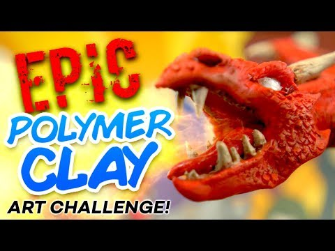 EPIC POLYMER CLAY ART CHALLENGE!