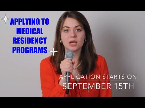 Applying to Medical Residency Programs