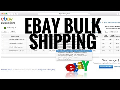 How to bulk ship items on eBay. Step by step for beginners