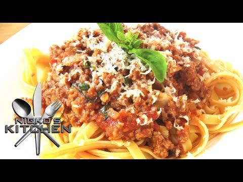 Fettuccine Bolognese - Video Recipe