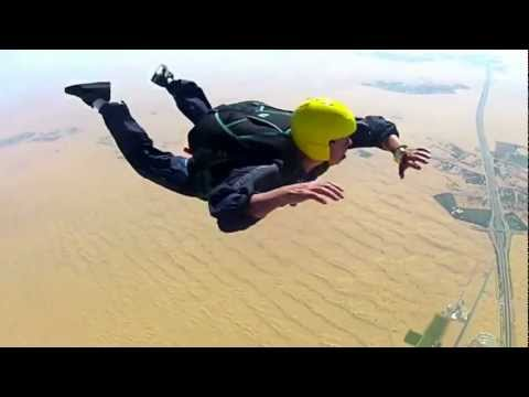Mikey Skydive, Passes AFF level, turns, flips and barrels!