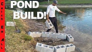 BUILDING a POND inside a POND! Cold Iguanas!