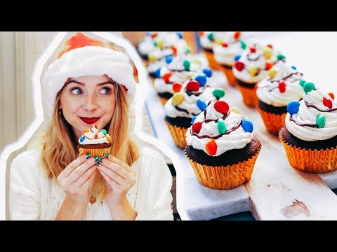 Gingerbread Christmas Light Cupcakes | Zoella | AD