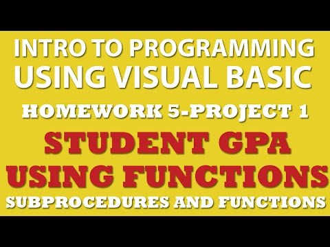 5-pp1 VB Calculating Student GPA (Functions and Procedures)
